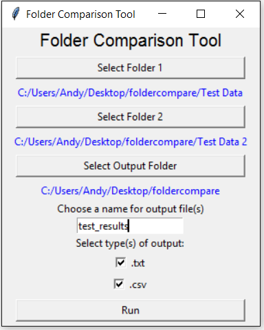 Comparing Folders with Python · Andy Roche